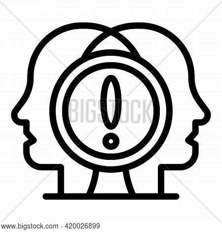 Human Resources Attention Icon. Outline Human Resources Attention Vector Icon For Web Design Isolate