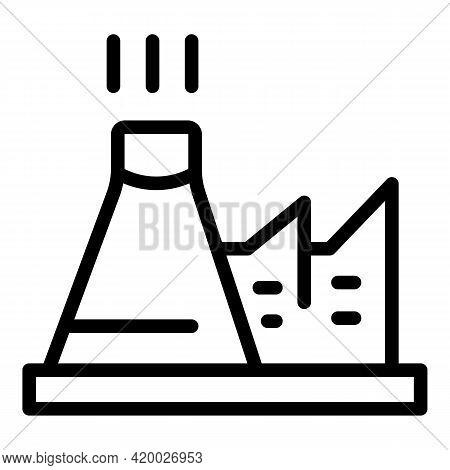 Green Environment Factory Icon. Outline Green Environment Factory Vector Icon For Web Design Isolate