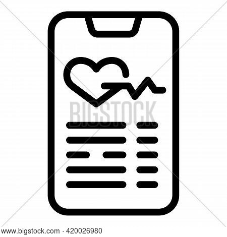 Fitness Smartphone Tracking Icon. Outline Fitness Smartphone Tracking Vector Icon For Web Design Iso