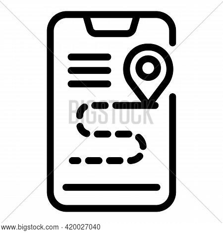 Accessible Phone Route Icon. Outline Accessible Phone Route Vector Icon For Web Design Isolated On W