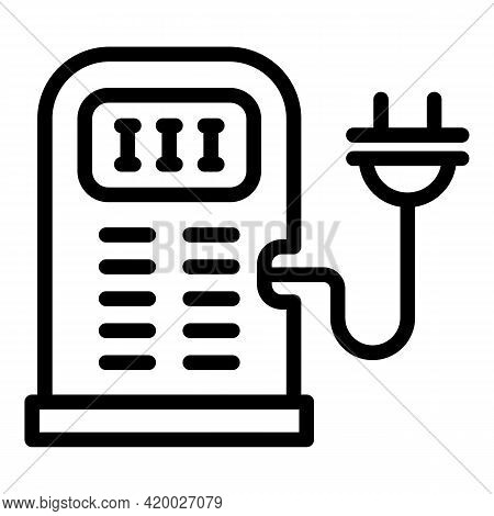 Accessible Charging Station Icon. Outline Accessible Charging Station Vector Icon For Web Design Iso