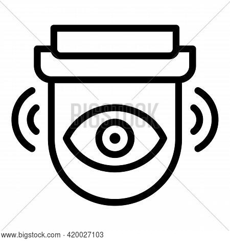 Accessible Outdoor Camera Icon. Outline Accessible Outdoor Camera Vector Icon For Web Design Isolate