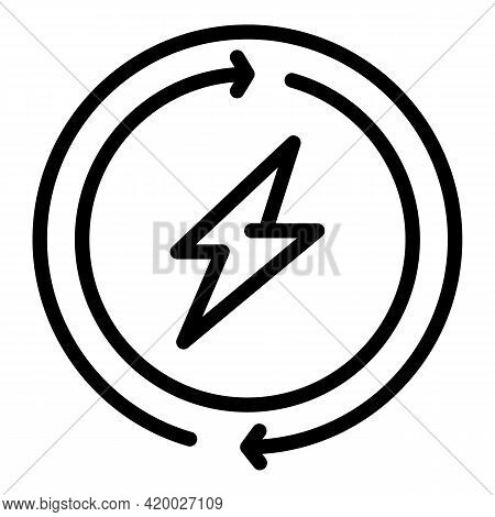 Boost Energy Icon. Outline Boost Energy Vector Icon For Web Design Isolated On White Background
