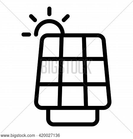 Accessible Solar Panel Icon. Outline Accessible Solar Panel Vector Icon For Web Design Isolated On W