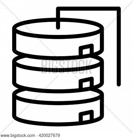 Api Server Icon. Outline Api Server Vector Icon For Web Design Isolated On White Background