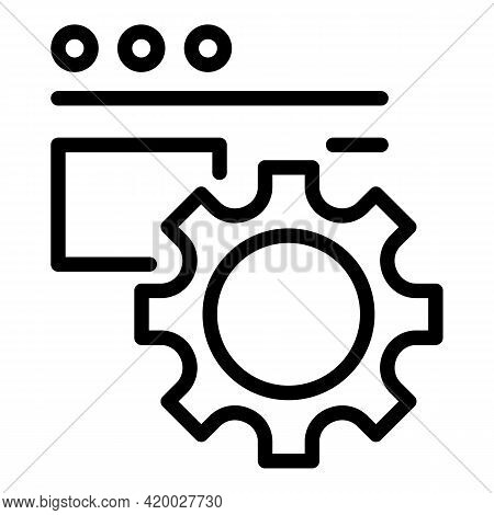 Api Gear Icon. Outline Api Gear Vector Icon For Web Design Isolated On White Background