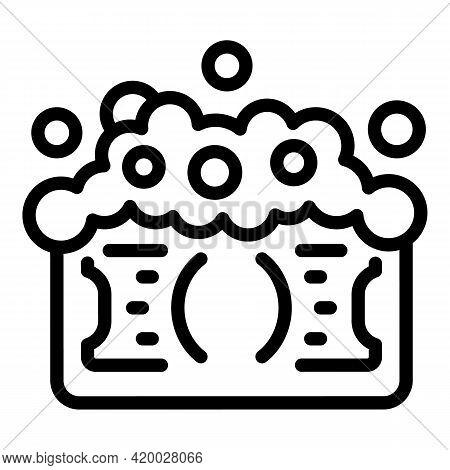 Laundry Money Corruption Icon. Outline Laundry Money Corruption Vector Icon For Web Design Isolated