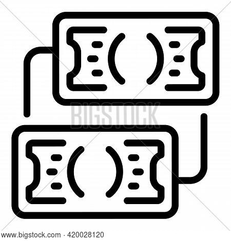 Laundry Money Exchange Icon. Outline Laundry Money Exchange Vector Icon For Web Design Isolated On W