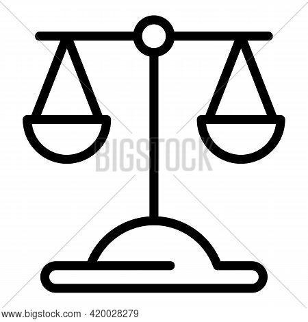 Laundry Money Judge Balance Icon. Outline Laundry Money Judge Balance Vector Icon For Web Design Iso
