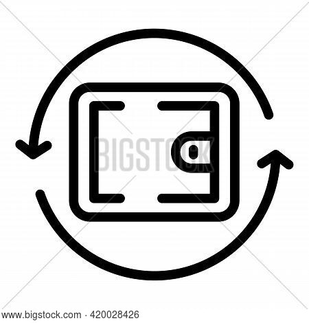 Financial Planning Wallet Icon. Outline Financial Planning Wallet Vector Icon For Web Design Isolate