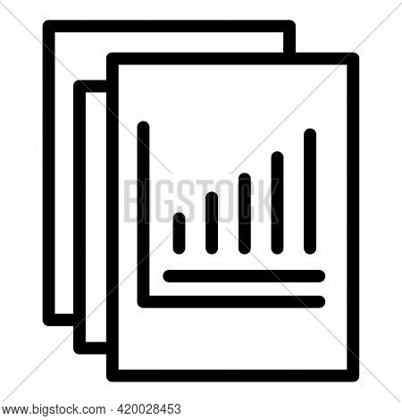 Financial Planning Papers Icon. Outline Financial Planning Papers Vector Icon For Web Design Isolate