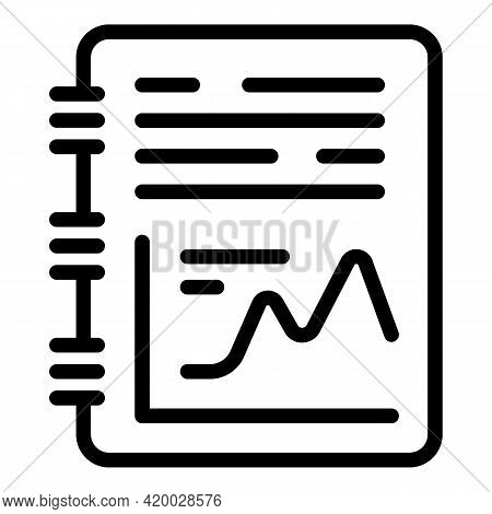 Financial Planning Graph Icon. Outline Financial Planning Graph Vector Icon For Web Design Isolated