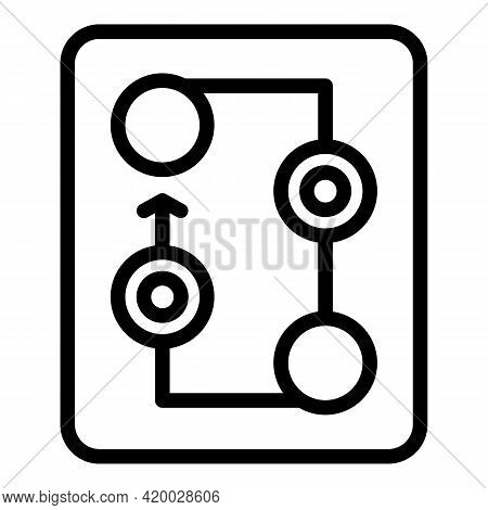 Financial Planning Tactic Icon. Outline Financial Planning Tactic Vector Icon For Web Design Isolate