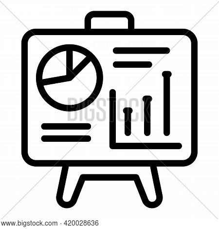 Financial Planning Graph Banner Icon. Outline Financial Planning Graph Banner Vector Icon For Web De