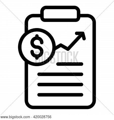 Financial Planning Board Icon. Outline Financial Planning Board Vector Icon For Web Design Isolated