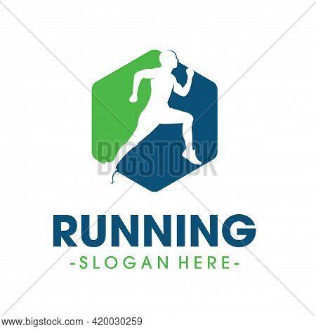 Running Logo Design. Marathon Logo Design Vector
