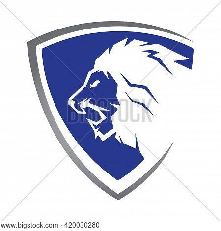Lion Head Logo. Lion King Logo Design Vector Illustration