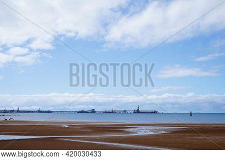 Mackay, Queensland, Australia - May 2021: Coal Export Terminal Loading Facility On The Coast Hay Poi
