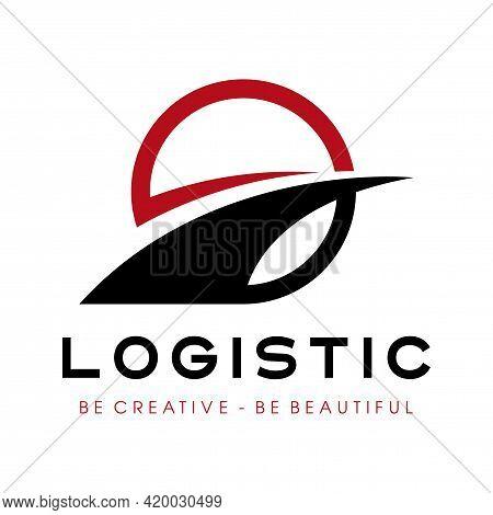 Way And Logistic Logo. Transportation Logo Design Vector