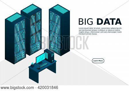 Web Hosting And Big Data Processing, Server Room Rack