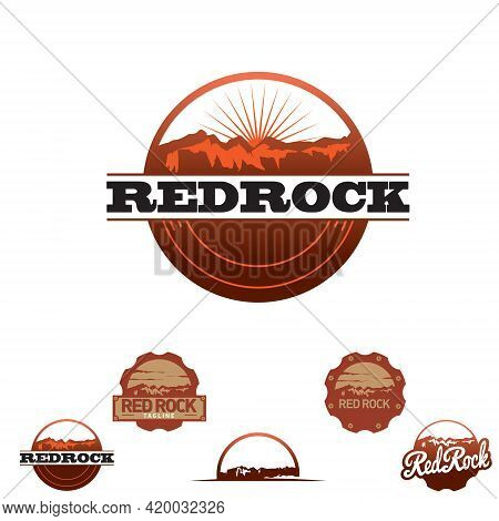 Redrock Insignia Set Vector For Commercial Use