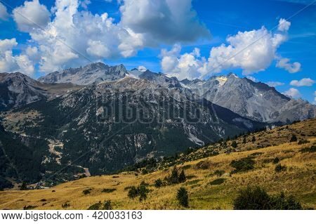 Image Of  The Massif Des Ecrins Seen From The Road Climbing To Col Du Granon.