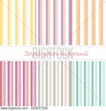 Striped Pattern Backgrounds, Color Pastel Striped Backgrounds
