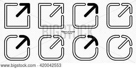 Set Of Flat Linear Profile Icons For Websites, Applications And Other Internet Resources. Public Pro