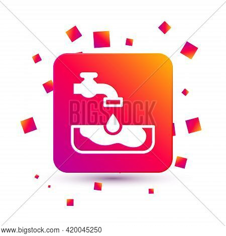 White Water Problem Icon Isolated On White Background. Poor Countries Environmental Public Health Re