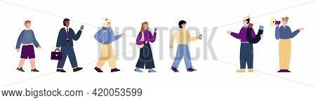 Digital Marketing, Influence And Popularity Cartoon Vector Illustration Isolated.