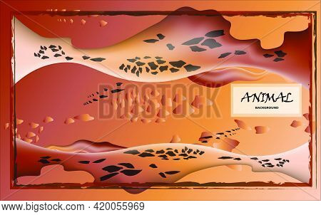 Animalistic Abstract Background. Combination Of Different Predatory Prints