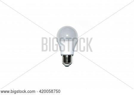 Led Light Bulb Self Ballasted Lamp On White Background