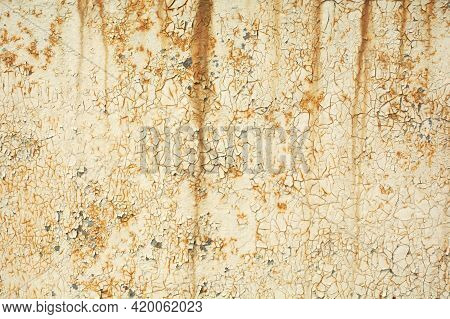 Metal Rust Background, Decay Steel, Metal Texture With Scratch And Crack, Rust Wall, Old Metal Iron