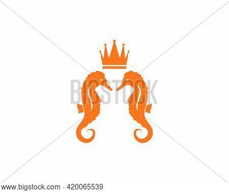 Seahorse Vector Icon Illustration Design