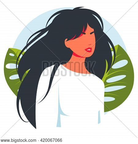 Real People Portraits Hand Drawn Flat Style Vector Design Concept Illustration Of Women, Female Face