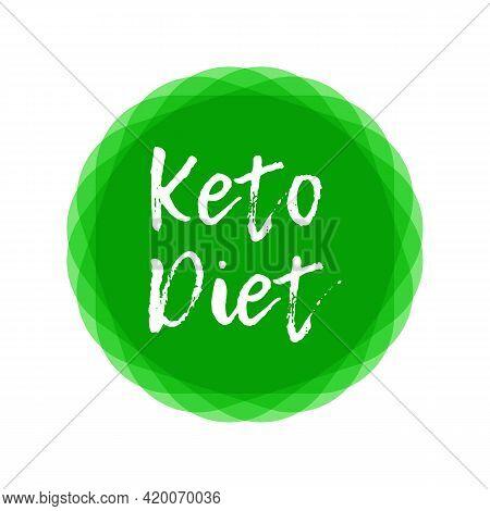 Ketogenic Diet Logo Sign. Keto Diet. Keto Friendly.