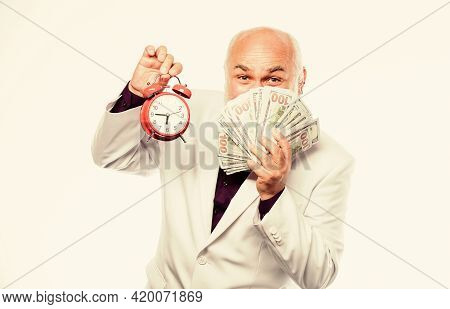 Time Is Money. Earn Money Profit. Banking And Money Savings. Savings System And Life Insurance. Cash