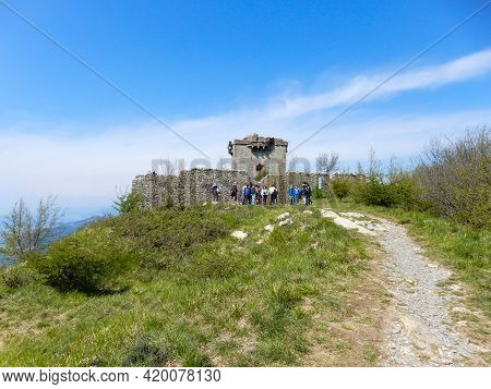 Genoa, Italy, April 17, 2021 - View Of Fratello Minore (younger Brother) Fort Of Genoa, Italy