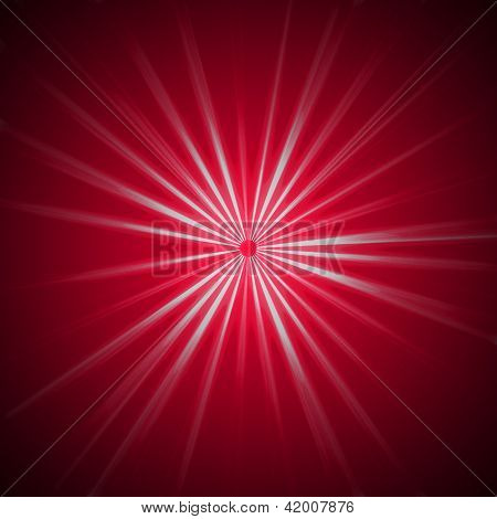 Radiating Ray Background - White