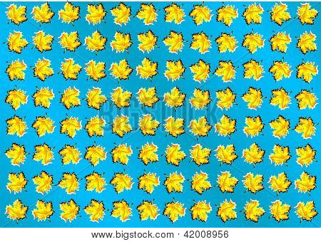 optical illusion. abstract background with leaves. 10 EPS poster
