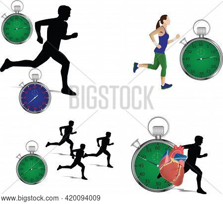 Runners With Time Trial Runners With Time
