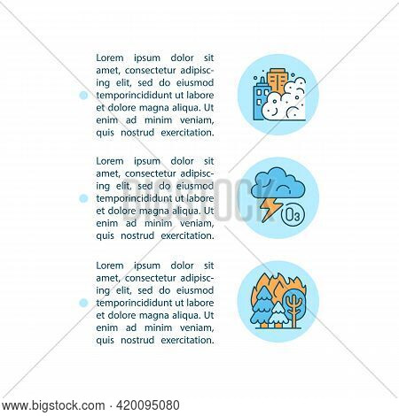 Natural Sources Concept Line Icons With Text. Ppt Page Vector Template With Copy Space. Brochure, Ma