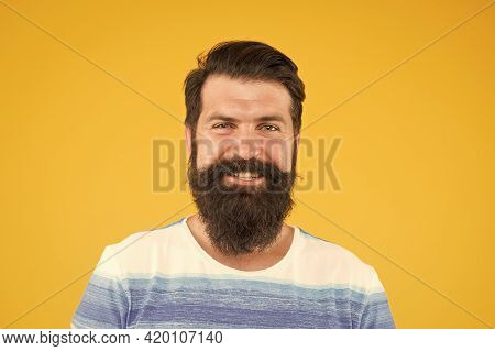 Mens Beauty And Health. Portrait Of Bearded Stylish Man. Brutal Caucasian Guy With Moustache. Mature