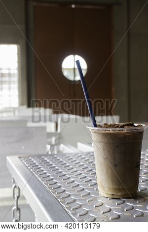 Delicious Iced Chocolate Cocoa Drink, Stock Photo