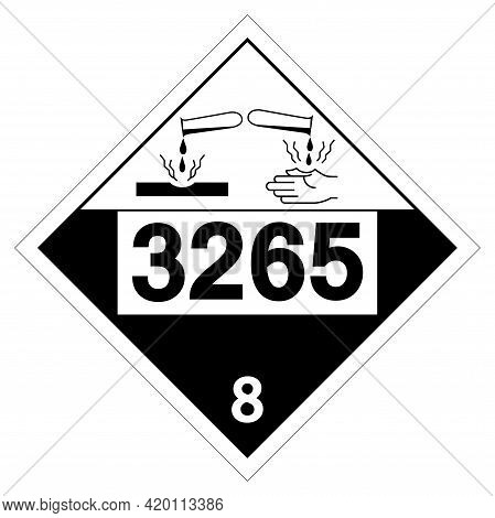 Corrosive Liquid Un3265 Symbol ,vector Illustration, Isolate On White Background Label. Eps10