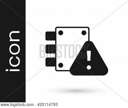 Black House Under Protection Icon Isolated On White Background. Home And Lock. Protection, Safety, S