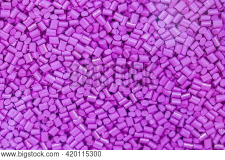 The Pile Of Pellets Raw Material Of Injection Process. The Petrochemical Products For Injection Proc