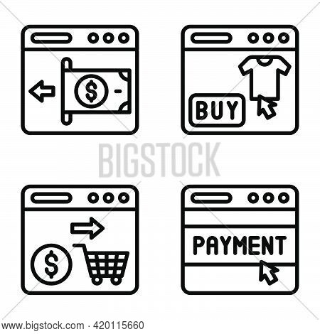Payment Gateway Icon Set, Payment Related Vector Illustration