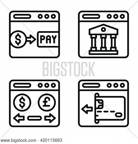 Payment Gateway Icon Set 2, Payment Related Vector Illustration