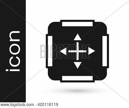 Black Area Measurement Icon Isolated On White Background. Vector